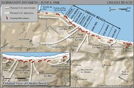 Map Still Map of Omaha Beach on D Day  June
