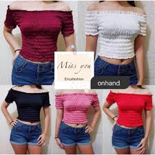 <b>Fashion Sexy Off</b> Shoulder Blouse   Shopee Philippines