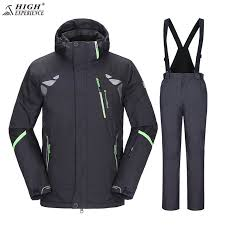 High Experience Winter <b>Ski Suit Men</b> Sport Suits Snowboard Jacket ...