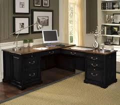 black desks for home office large size of desk contemporary l shaped black wooden best home black computer desks home