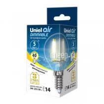 Светодиодная лампа <b>Лампочка Uniel Air</b> шар LED-G45-5W/WW ...
