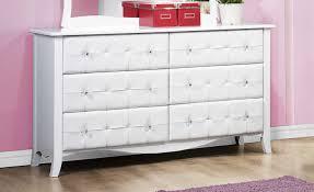 piece emmaline upholstered panel bedroom: sparkle dresser white he   sparkle dresser white