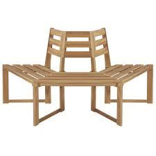 "<b>Tree Bench Half-hexagonal</b> 63"" Solid Acacia Wood - Walmart.com ..."