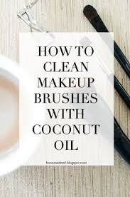 how to clean makeup brushes with coconut oil via boone owl