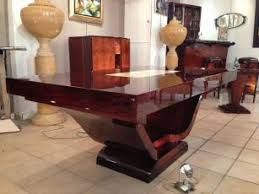 exceptional table dining room in rio rosewood with bright slab of saint gobain period art deco 1930 art deco dining room table