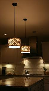 Pendant Light Fixtures For Kitchen Island Lighting Over A Kitchen Island Double Black Shade Hanging Lights