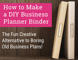 heres how to make a business planner binder bussiness planner