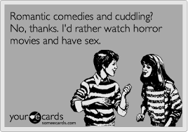 Cuddling Romantic Horror Movies comedies your cards the-grave-tattoo • via Relatably.com