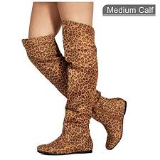 <b>Leopard Knee Boots</b>: Amazon.com