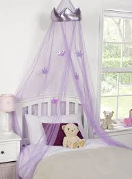 bedroom netting kids childrens girls princess crown bed canopy insect