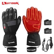 Men Women Winter <b>Rechargeable Battery</b> Heated Gloves Electric ...