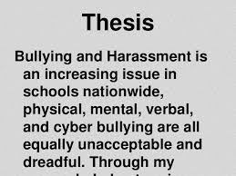 research paper on bullying