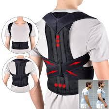 Adjustable back support belt back posture corrector shoulder lumbar ...