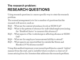 dissertation research questions