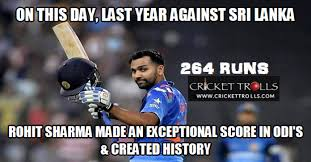 Its time to remember Rohit's remarkable innings | Cricket Trolls ... via Relatably.com