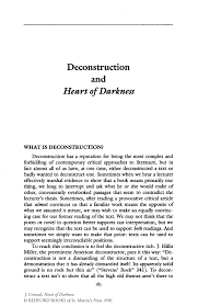 deconstruction and heart of darkness springer inside