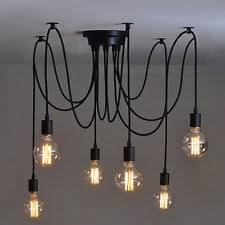 vintage ceiling lighting. Vintage Multiple Ajustable DIY Ceiling Spider Lamp Light Pendant Lighting Edison D