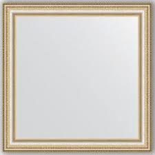 Купить <b>зеркало</b> настенное <b>65х65 см</b> в багетной раме - золотые ...