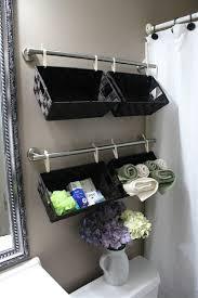 bathroom space savers bathtub storage: a wall full of baskets  brilliant bathroom organization save bathroom organization and space saving