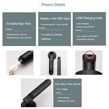 WAFU Smart <b>Fingerprint Handle</b> Lock Electric Door Lock with ...