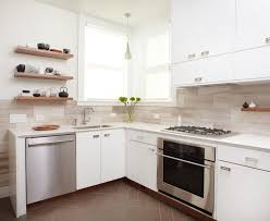 f brown solid wood countertop glass window kitchen backsplash ideas with white cabinets grey metal chrome gas range stove brown lacquered wood kitchen brown solid wood shape home