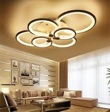 <b>Modern</b> White <b>Acrylic</b> Surface Mounted <b>led chandelier</b> light fixtures ...