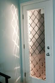 a faux frosted glass door makeover using contact paper this is a very cool project black contact paper project