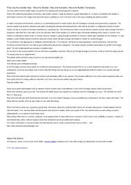resume builder online maker best ideas x cover letter gallery of resume builders online