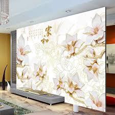 room elegant wallpaper bedroom: elegant anaglyph orchids photo wallpaper custom d wall murals chinese style wallpaper kids bedroom interior design