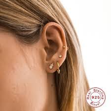 <b>BOAKO</b> Dainty Small 925 Sterling <b>Silver Earrings For</b> Women <b>Stud</b> ...