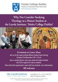archive the loyola institute trinity college dublin maturestudentevent2016