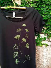 <b>Ginkgo Leaves Women's</b> Organic Cotton Tee   Etsy in <b>2019</b> ...
