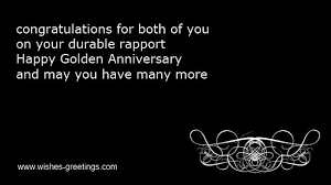 Golden 50th wedding anniversary poems parents from children