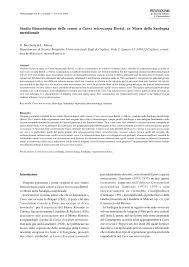 (PDF) Studio fitosociologico delle cenosi a Carex microcarpa Bertol ...