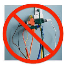 Image result for overloaded extension cords