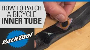 How to <b>Patch</b> a <b>Bicycle</b> Inner Tube - YouTube