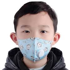 3pcs <b>Kids KN95 Face</b> Mask Respirator 5-Layers with Breathing Valve