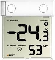 <b>Термометр</b>-гигрометр цифровой оконный на липучке <b>RST 01278</b> ...