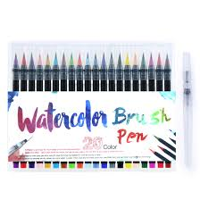 <b>20 Color Painting Soft</b> Brush Pen Watercolor Markers Pen For ...