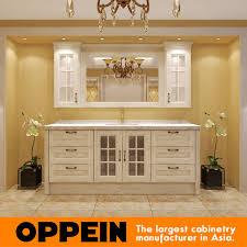 Customized Traditonal <b>Elegant White Wooden</b> Bathroom Cabinet ...
