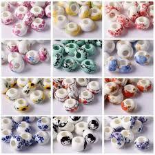 <b>10pcs</b> 15x9mm Ceramic Porcelain <b>Flowers</b> European Charm Loose ...