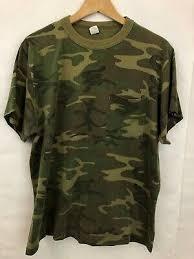 Винтажный камуфляж карман <b>футболка</b> размер Xl короткий ...