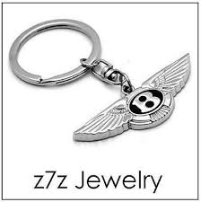BENTLEY <b>Logo Keychain</b> - <b>letter</b> initial B emblem <b>keyring auto car</b> ...