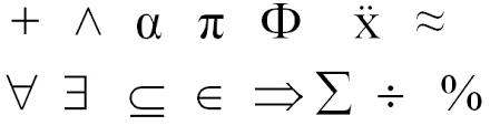 Resultado de imagen de Los símbolos matemáticos