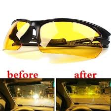 <b>2021 Hot Sale</b> Yellow Lenses Sunglasses Night Vision Goggles Car ...