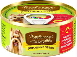 <b>Деревенские Лакомства консервы</b> для собак минипород ...
