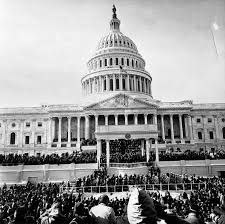 「On January 20, 1961, on the steps of the Capitol in Washington, D.C., John Fitzgerald Kennedy was inaugurated as the 35th president of the United States」の画像検索結果