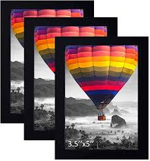 THREELOVE 3.5x5 Photo Frame Black Made of Solid ... - Amazon.com
