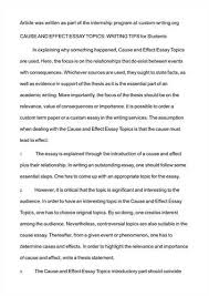 good topic for cause and effect essay  comfuturobrorg good persuasive essay topics here are a few easy lt a href quot http beksanimports com cause and however you