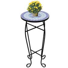 vidaXL <b>Mosaic Side Table</b> Blue White Outd- Buy Online in ...